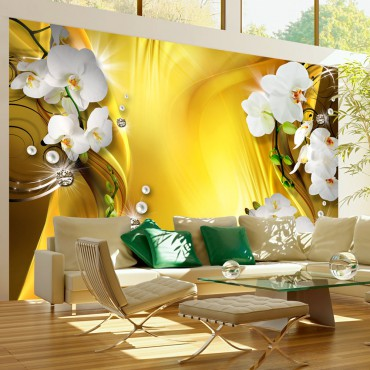 Fotomural - Orchid in Gold