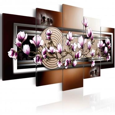 Cuadro - Jardín Zen y magnolia