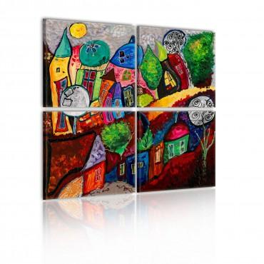Cuadro - Ciudad de colores