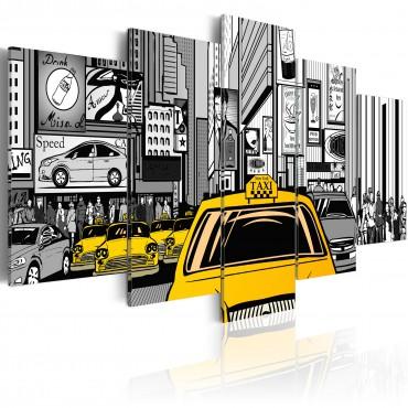 Cuadro - Taxi de tebeos