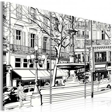 Cuadro - Sketch de plaza...