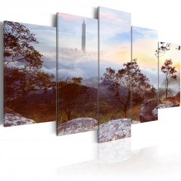 Cuadro - Torre y horizonte