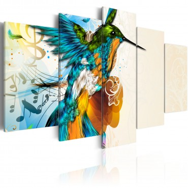 Cuadro - Bird's music - 5...