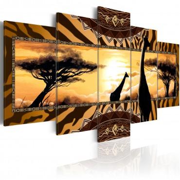 Cuadro - African giraffes