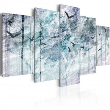 Cuadro - Bosque azul