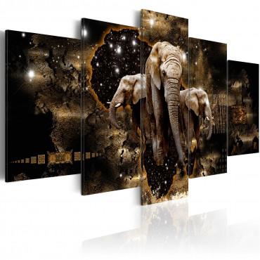 Cuadro - Elefantes marrones