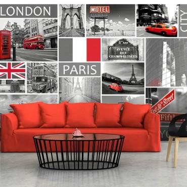 Fotomural - London, Paris,...