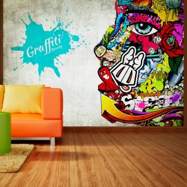Fotomural - Graffiti beauty