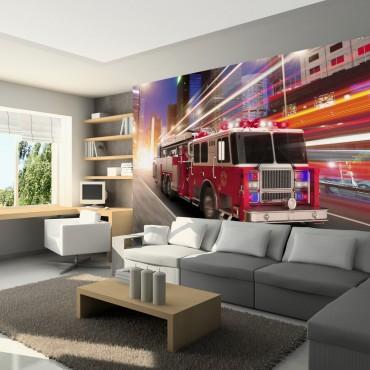 Fotomural - Camión de bomberos
