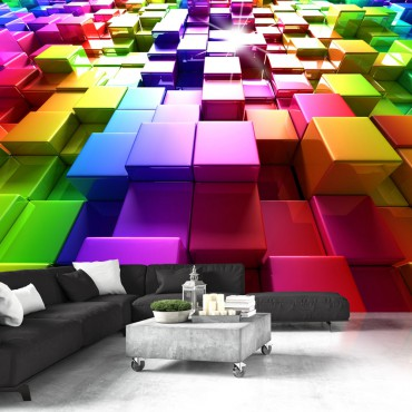 Fotomural - Colored Cubes