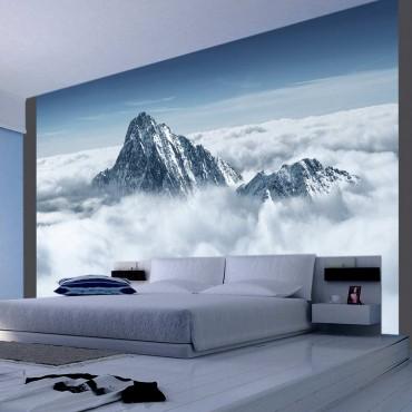 Fotomural - Una cima en nubes