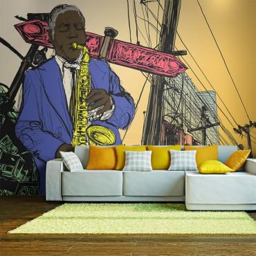 Fotomural - Saxophonist in...