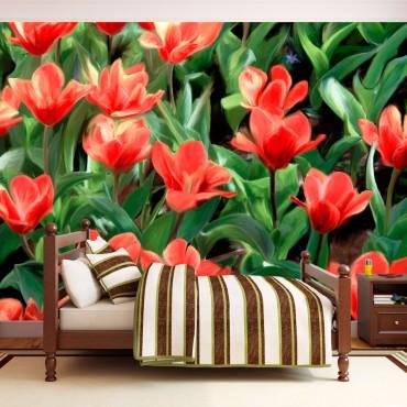 Fotomural - Painted flowers