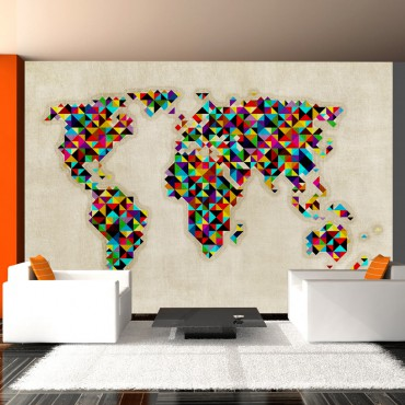 Fotomural - World Map - a...