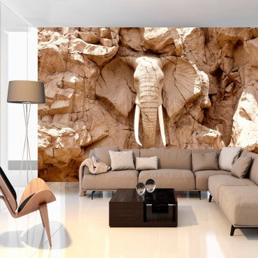 Fotomural - Stone Elephant...