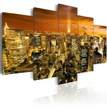Cuadro - Nueva York: ámbar