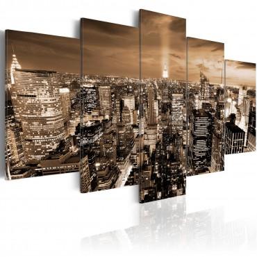 Cuadro - Nueva York: luces...