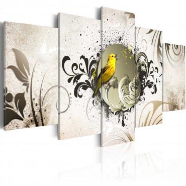 Cuadro - Pájaro amarillo