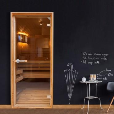 Fotomural para puerta - Sauna