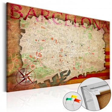Tablero de corcho - Map of...