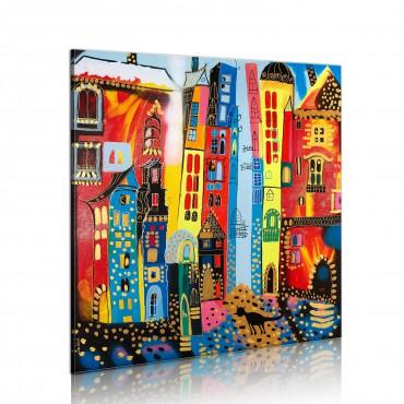 Cuadro pintado - calle mágica