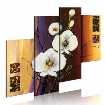 Cuadro pintado - Orquídea...