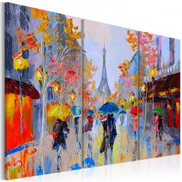 Cuadro pintado - Rainy Paris