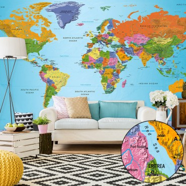 Fotomural XXL - World Map:...