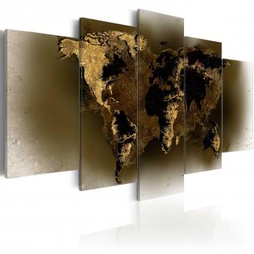 Cuadro - Continentes de latón