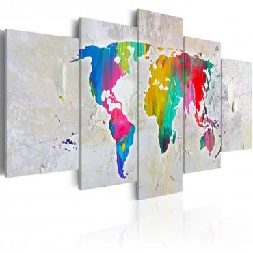 Fotomural XXL - World Map: White Oceans II