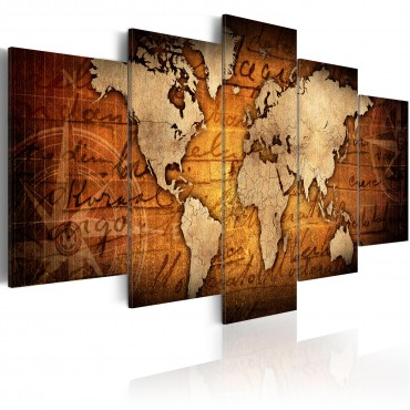Fotomural XXL - World Map: Colourful Geography II