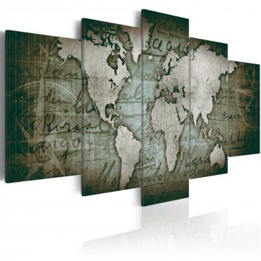 Fotomural XXL - Turquoise World Map II