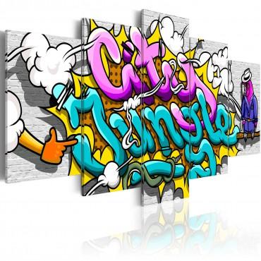 Cuadro - Grafiti: jungla...