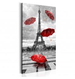 Cuadro - Paris: Red Umbrellas