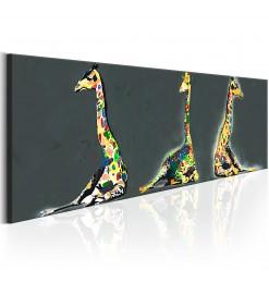Cuadro - Colourful Giraffes