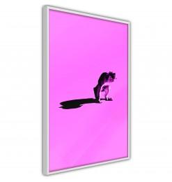 Póster - Monkey on Pink...