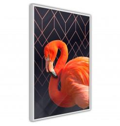 Póster - Orange Flamingo