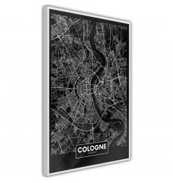 Póster - City Map: Cologne...