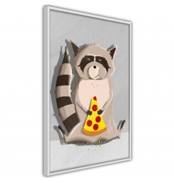 Póster - Racoon Eating Pizza