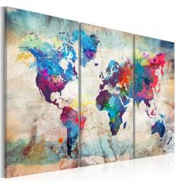 Cuadro - World Maps: Modern...