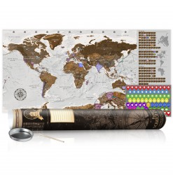 Mapa para rascar - Grey Map...