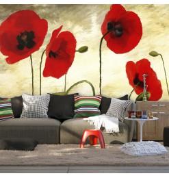 Fotomural - Amapolas pintadas