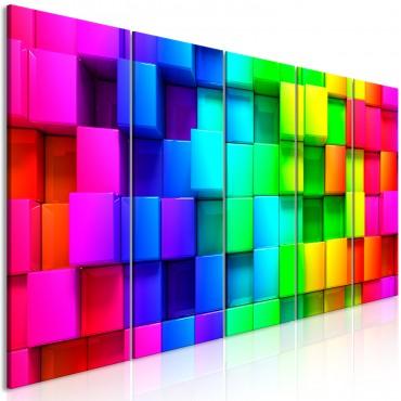 Cuadro - Colourful Cubes (5...
