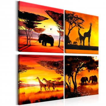 Cuadro - African Animals (4...