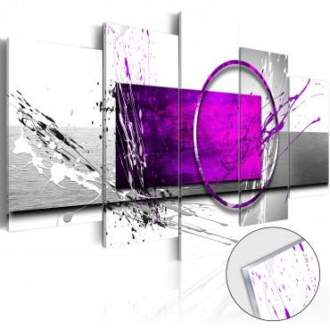 Cuadro acrílico - Purple...