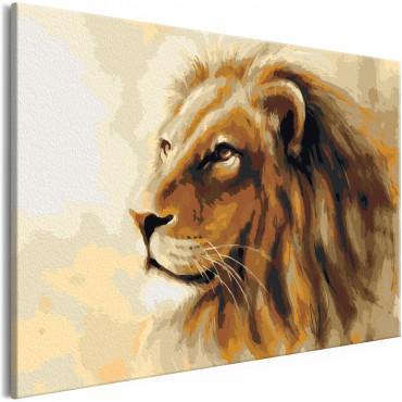 Cuadro para colorear - Lion...