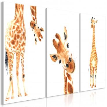 Cuadro - Funny Giraffes (3...