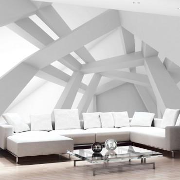 Fotomural - White Construction